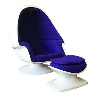 """Modern """"Alpha"""" Chamber Chair & Ottoman"""