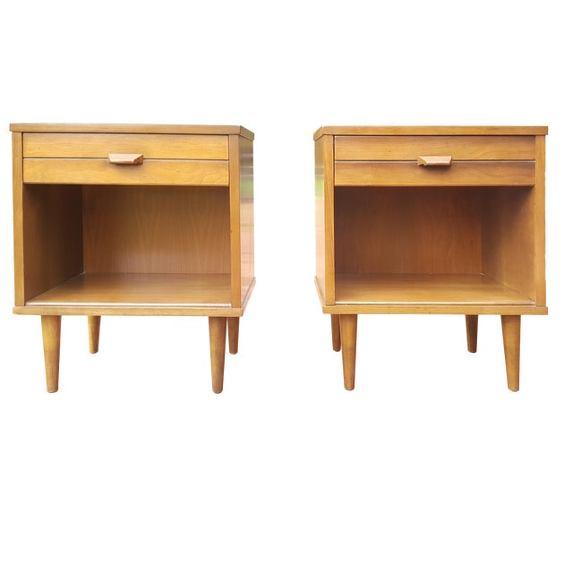 Mid-Century Modern Night Stands - A Pair - Image 1 of 4