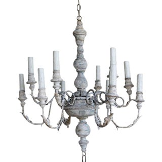 Twelve-Arm Italian Painted Chandelier