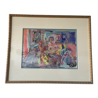 Modern Interiors Colorful Framed Painting
