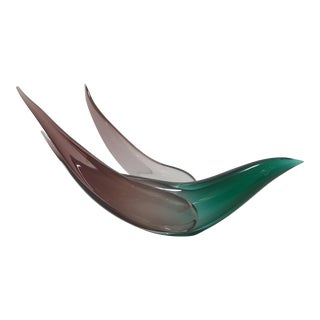 Vintage Flavio Poli Murano Glass Dove Sculpture