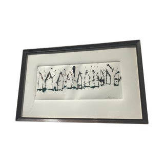 1980s Abstract Framed Painting
