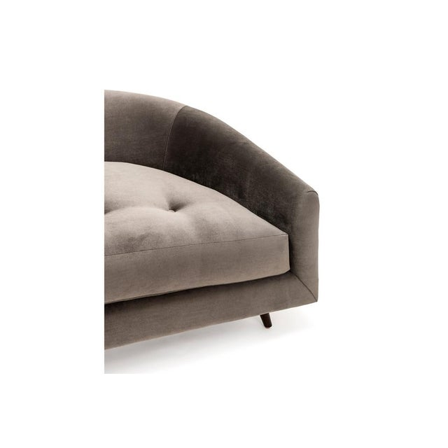 Image of Clad Home Curved Velvet Button Tufted Sofa