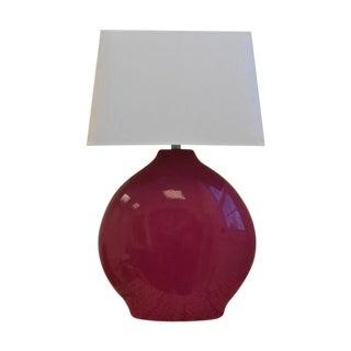 Crate & Barrel Fuchsia Ceramic Lamp
