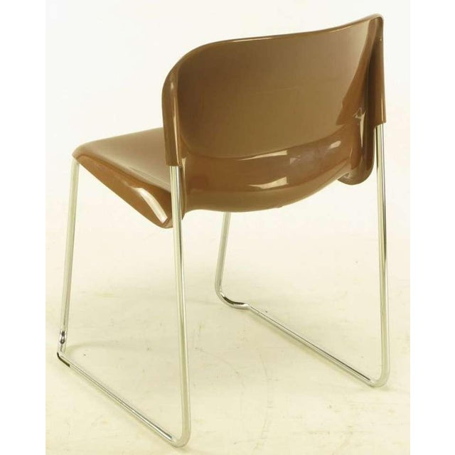 Four Gerd Lange West German Chrome SM 400 Swing Chairs - Image 6 of 9