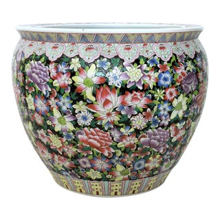Famille Noire Ceramic Goldfish Bowl/Planter