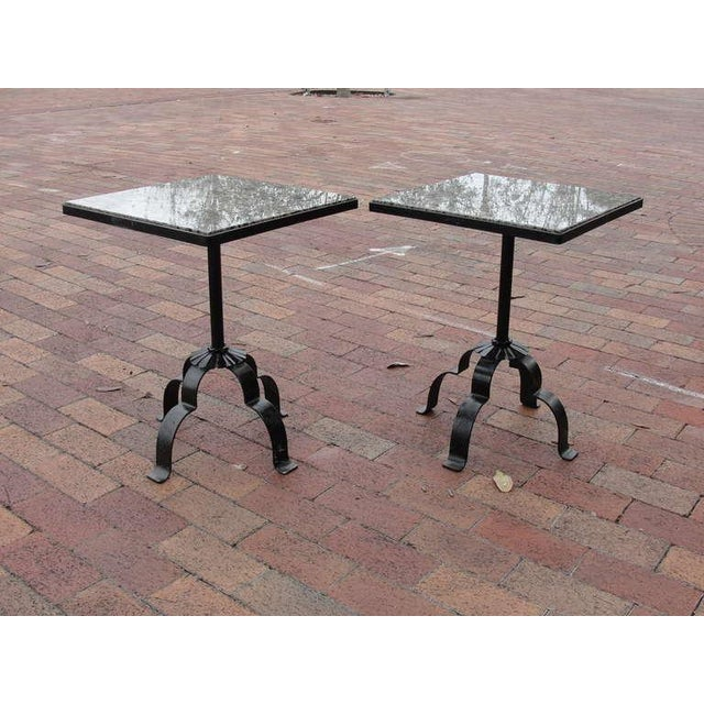 Pair of Wrought Iron & Granite Occasional Tables - Image 2 of 5