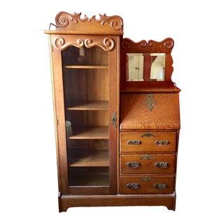 Antique Oak Secretary Desk/Bookcase
