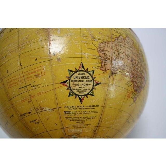 1930s Cram's Universal Terrestrial Globe - Image 5 of 7