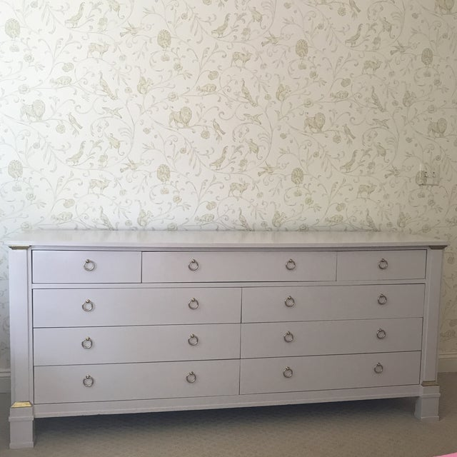 Vintage Baker Dresser With Brass Accents - Image 10 of 10
