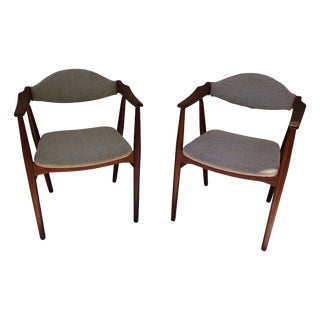Mid-Century Modern Danish Arm Chairs - A Pair