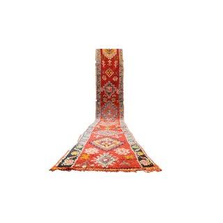 Vintage Moroccan Beni Ourain Rug - 2′7″ × 18′8″