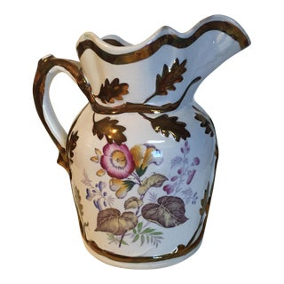 Copper Luster Ironstone Jug