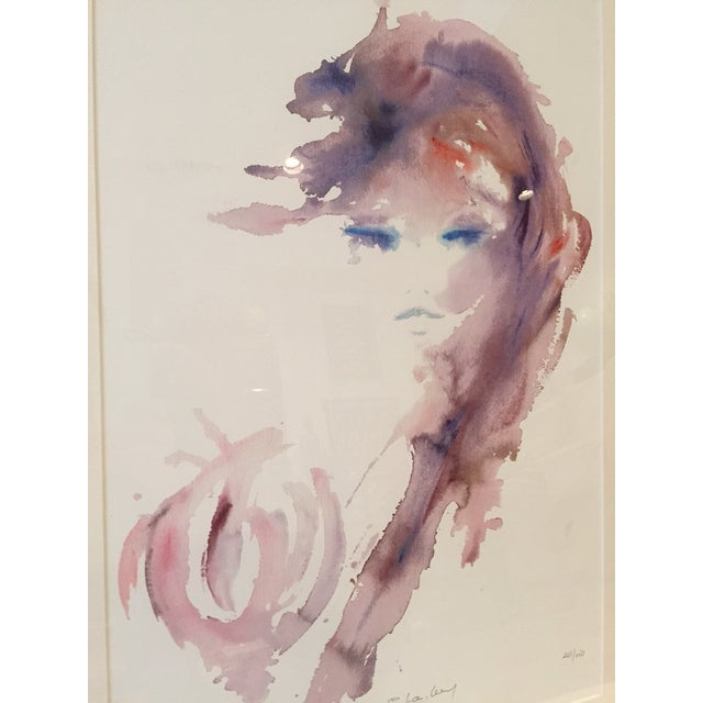 Image of Abstract Watercolor Portrait Painting