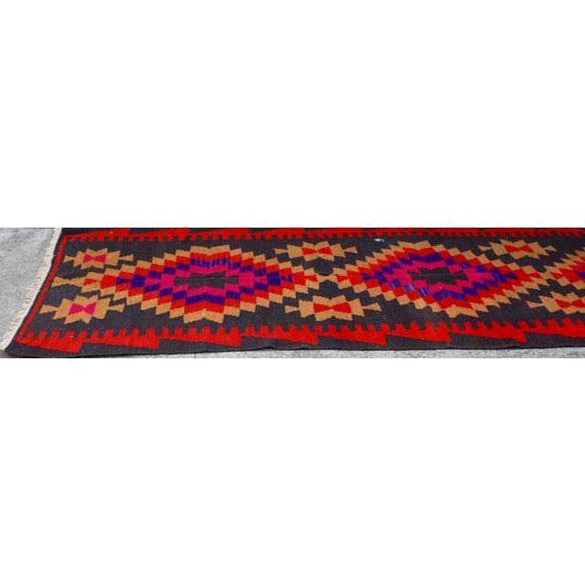 Vintage Handmade Persian Pink Kilim Rug - 3'10'' X 9'7 - Image 3 of 5