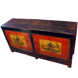Antique Chinese Hand-Painted Buffet Cabinet