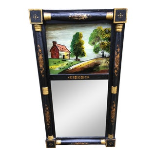 Antique Cabin Painting Mirror