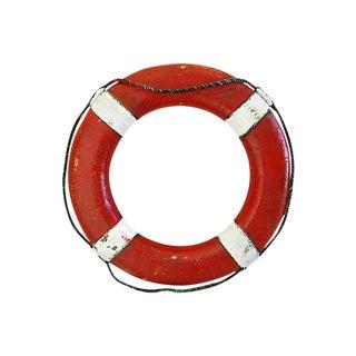 Vintage 1950s Red/White Nautical Life Preserver