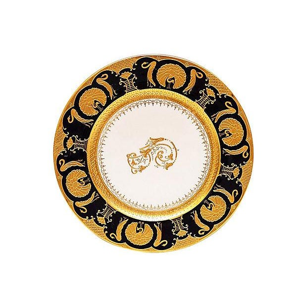 Image of Gilt Decorated Chargers - Set of 11