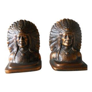 Mid-Century Native American Bookends - A Pair