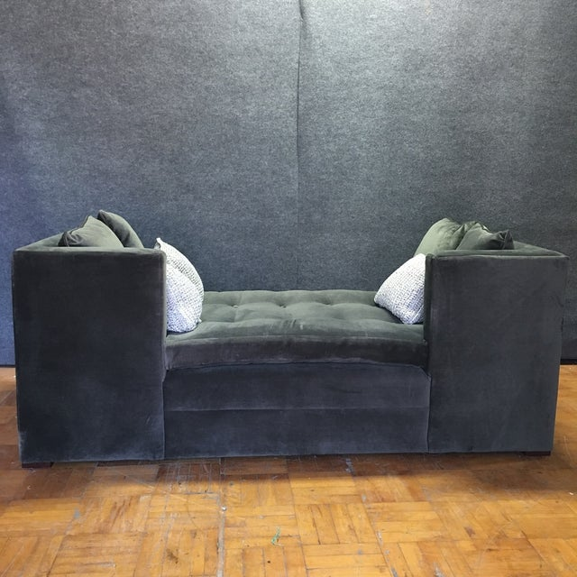 Modern Grey Daybed & Pillows - Image 6 of 8