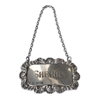 """Sherry"" Sterling Silver Decanter Label"