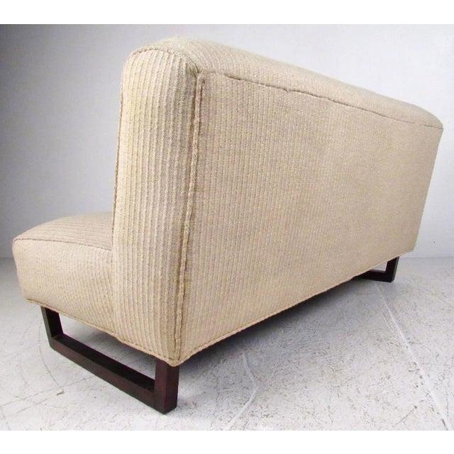 Vintage Modern Sled Leg Slipper Sofas - A Pair - Image 6 of 10