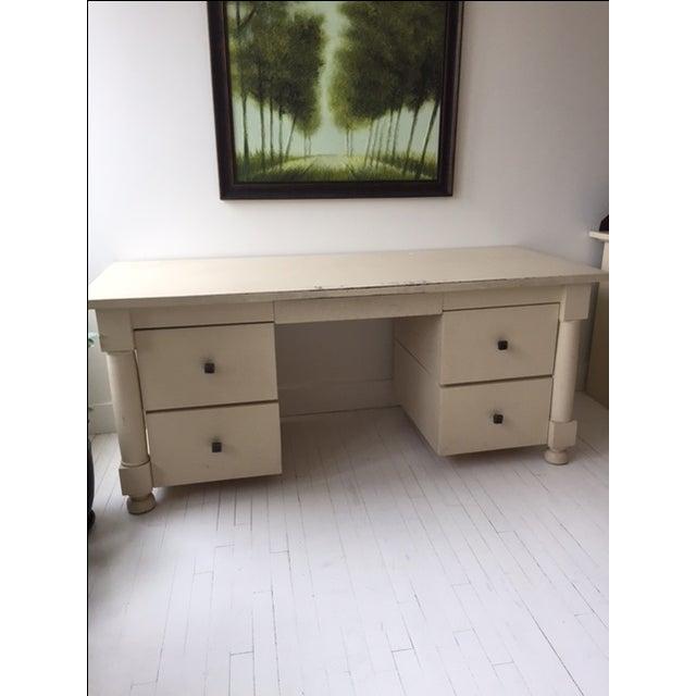 Image of White Custom Made Desk