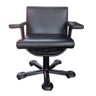Vico Magistretti Leather Office Chair