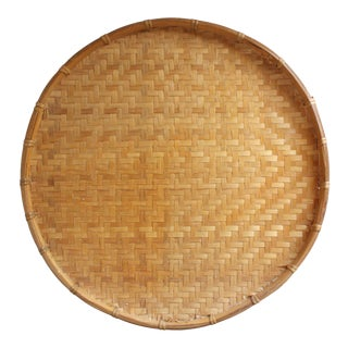 Large Round Basket Tray