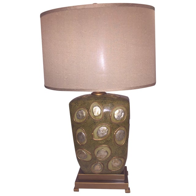 Image of Green Modern Enameled Lamp
