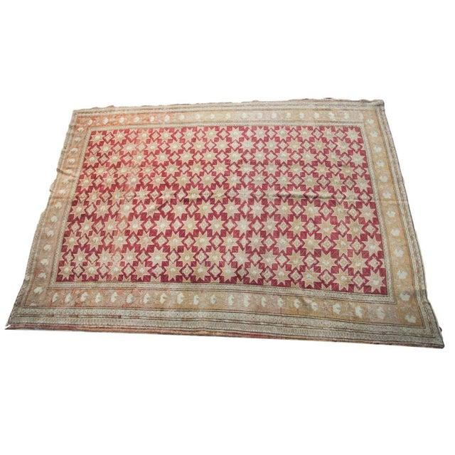 "Vintage Oushak Carpet - 6'3"" x 8'9"" - Image 1 of 4"