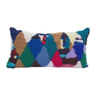 Diamond Rag Rug Pillow