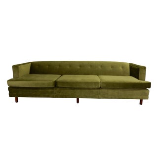 Mid Century Green Sofa in the Style of Edward Wormley