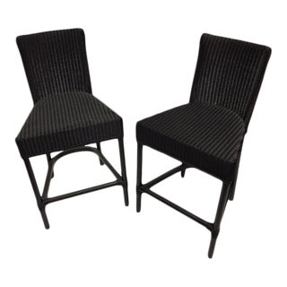 Black Loom Counter Height Stools - A Pair