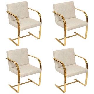 Brno Set of four Bronze Flat Bar Chairs