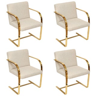 Brno Set of four Bronze Flat Bar Chairs