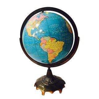 Vintage Cram's Double Axis World Globe