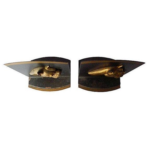Vintage Brass and Iron Boxer Bookends - A Pair - Image 5 of 5
