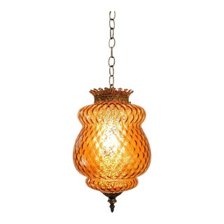 Hollywood Regency Italian Glass Hanging Lamp