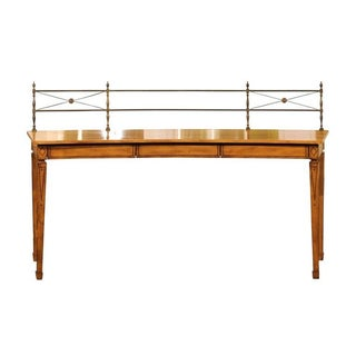 Neoclassical Satinwood Sideboard