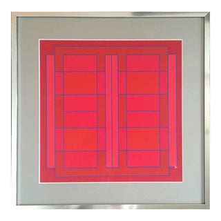 1971 Abstract Silkscreen Attributed to Peter Stroud