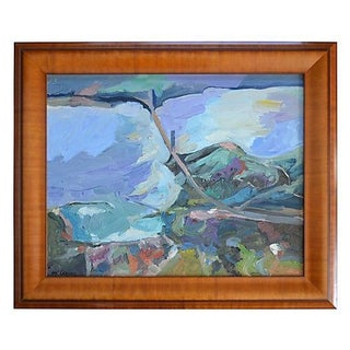 Abstract Landscape Painting California - The Bay