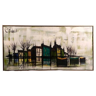 Cityscape On Water Painting by C. Paulucci