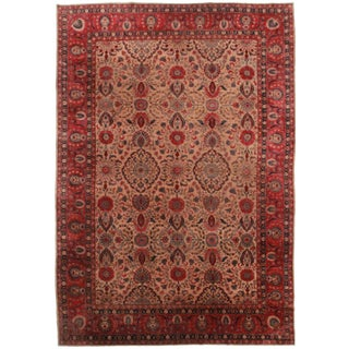 RugsinDallas Antique Hand-Knotted Indian Agra Rug