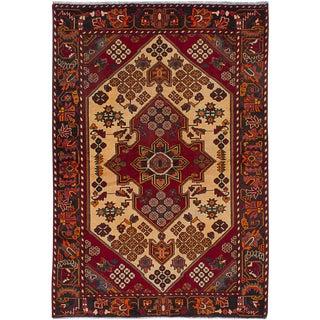 "4'2"" x 6'2"" Hamadan Vintage Persian Rug"