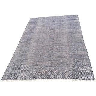 Dash & Albert Herringbone Indigo Rug - 6′ × 9′