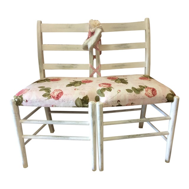 Custom Floral Ballerina Bench - Image 1 of 6