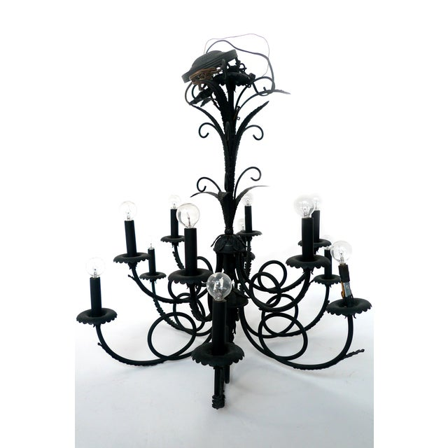 Image of 1960s 12-Arm Chandelier