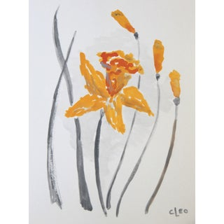 Impressionist Daffodil Floral Painting